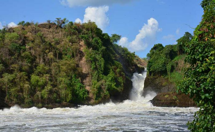 Murchison Falls where the Nile River squeezes through a 7 metree wide gap, Uganda-travel with Kwezi Outdoors